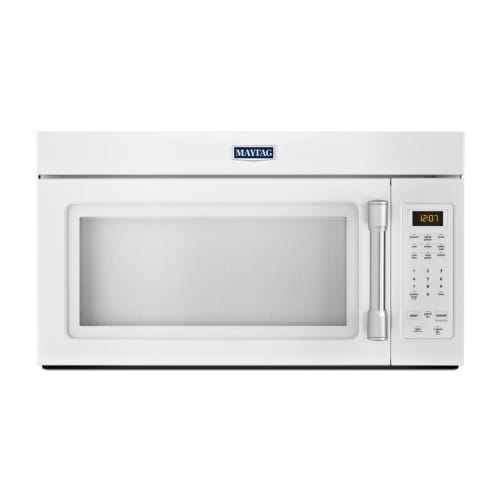 Maytag MMV1174D 220 CFM 30 Inch Wide Over the Range 1.9 Cu. Ft. Microwave with S White Microwave Ovens Over-the-Range