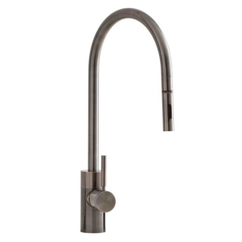 Waterstone 5300-4 Parche Kitchen Faucet Single Handle with Pull Out Spray, Soap White Faucet Single Handle