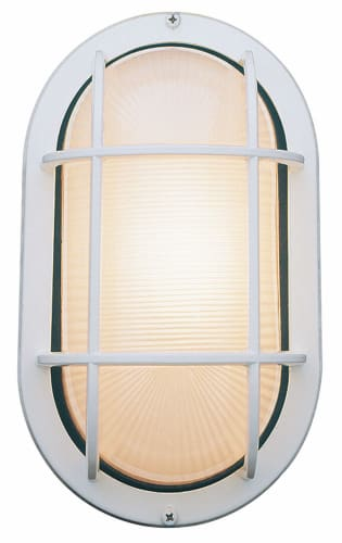 Access Lighting 20292 WHFST White Frosted Nauticus Traditional Classic Single Light Outdoor Wall Sconce from the Nauticus Collection 20292