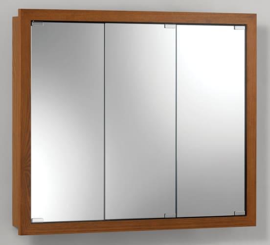 Broan 740639b honey oak 30 x 26 panel style surface mount for Wood frame medicine cabinet
