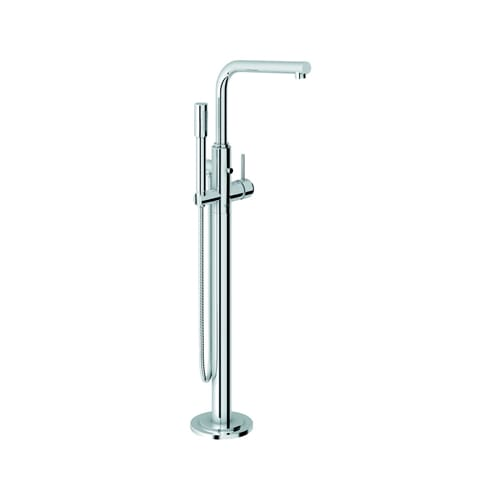 Grohe 32227002 Starlight Chrome Atrio Floorstanding Tub Filler with Handshower from the Atrio Collection - Clawfoot Tub Filler 32 227
