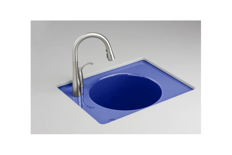 Kohler K-6654-3LU-30 Iron Cobalt Tandem Self-Rimming Cast Iron Utility Sink from the Tandem Series K-6654-3LU