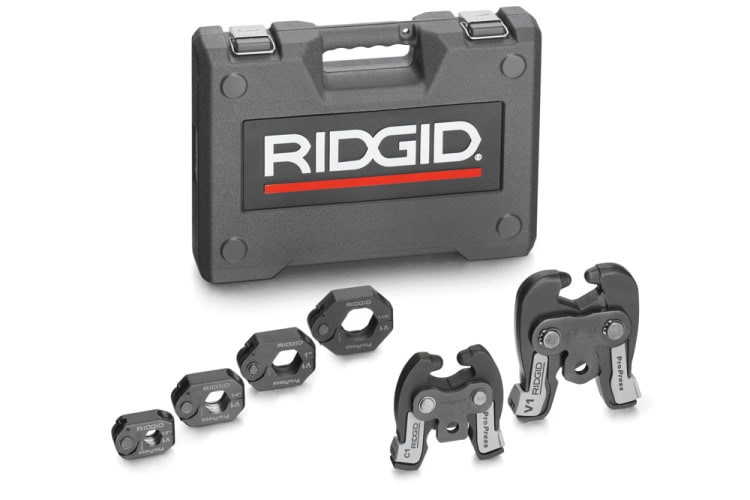 Ridgid 28048 NA ProPress V1 / C1 Combo ProPress Ring Kit.  Standard and Compact 1/2, 3/4, 1, 1 -1/4 Rings for ProPress (Copper & Stainless Steel Fittings) 2