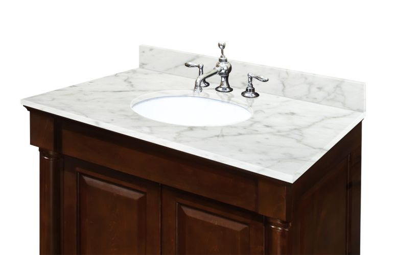 Belle Foret  Sassy 60 in Vanity in White with Marble