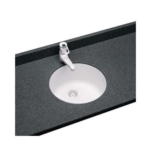 Swanstone USRB-18121 Glacier Swanstone Kitchen Sinks Round Undermount Kitchen Sink 18.5