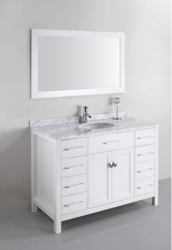 Kayleigh 48 Inch Single Sink Vanity Set Bathroom Vanity Mirrors