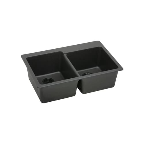 ELKAY Gourmet E-granite Double Bowl Sink ELG250RBK at Sears.com