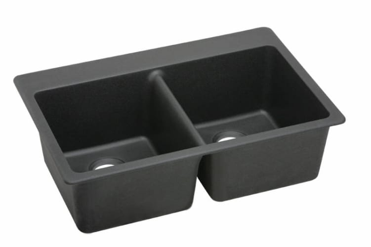 ELKAY E-granite Even Double Bowl Sink BLACK ELG3322BK at Sears.com
