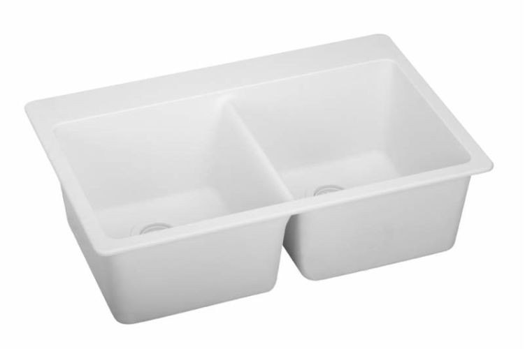 ELKAY E-granite Even Double Bowl Sink WHITE ELG3322WH at Sears.com