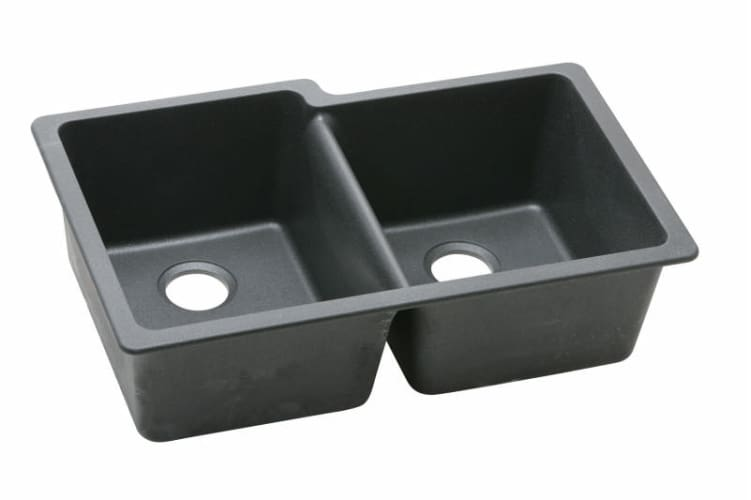 ELKAY Gourmet E-granite Undermount Sink BLACK ELGU250RBK at Sears.com