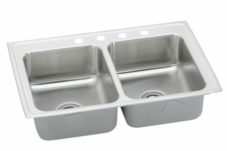 Elkay Lustertone 33x19 3 Hole Double Bowl Sink LR33193 at Sears.com