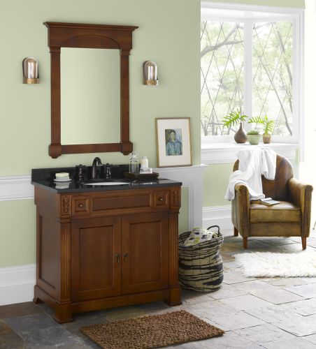 RonBow 064036 Verona 36 Inch; Wood Vanity Cabinet with Double Wood Doors