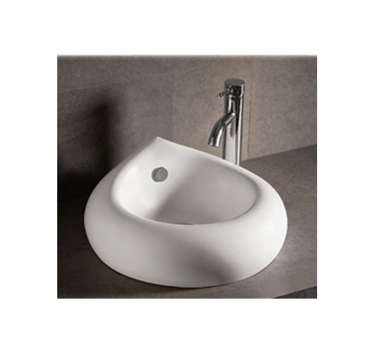 Whitehaus WHKN1073 Isabella 18 1/2-Inch Teardrop Porcelain Vessel Bathroom Sink