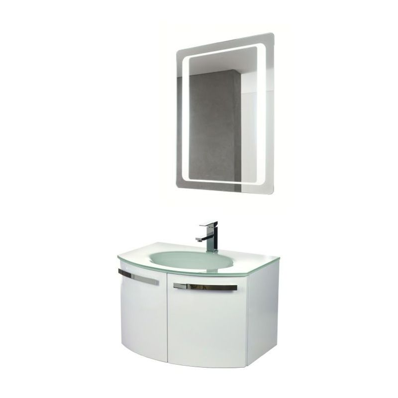 ACF by Nameeks CD14 Crystal Dance 27-3\/5 Wall Mounted Vanity Set with Wood Cabi Glossy White Fixture Single
