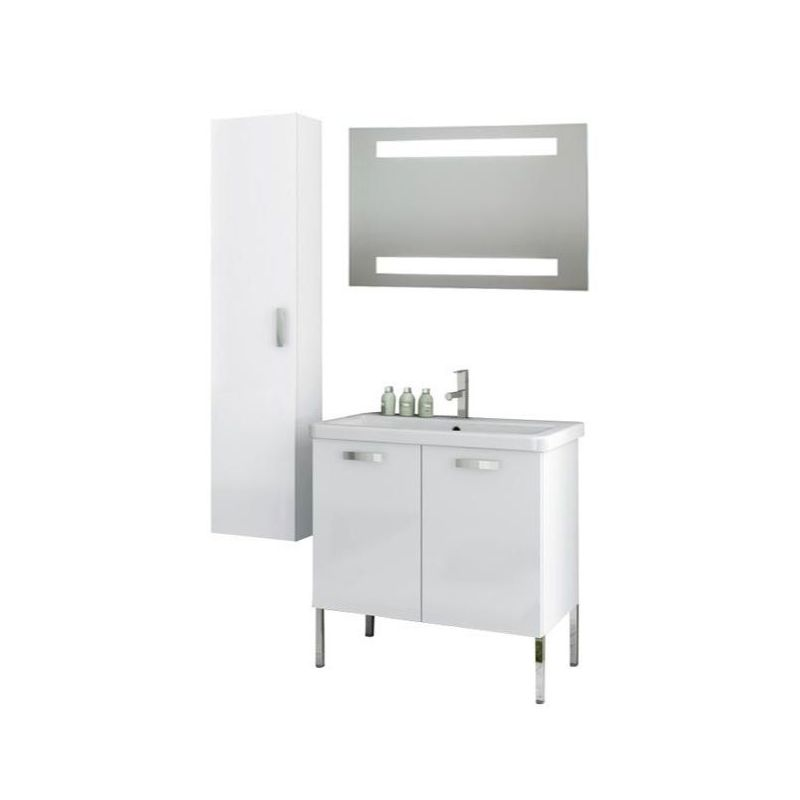 ACF by Nameeks CP92 City Play 30 Floor Standing Vanity Set with Wood Cabinet, C Glossy White Fixture Single