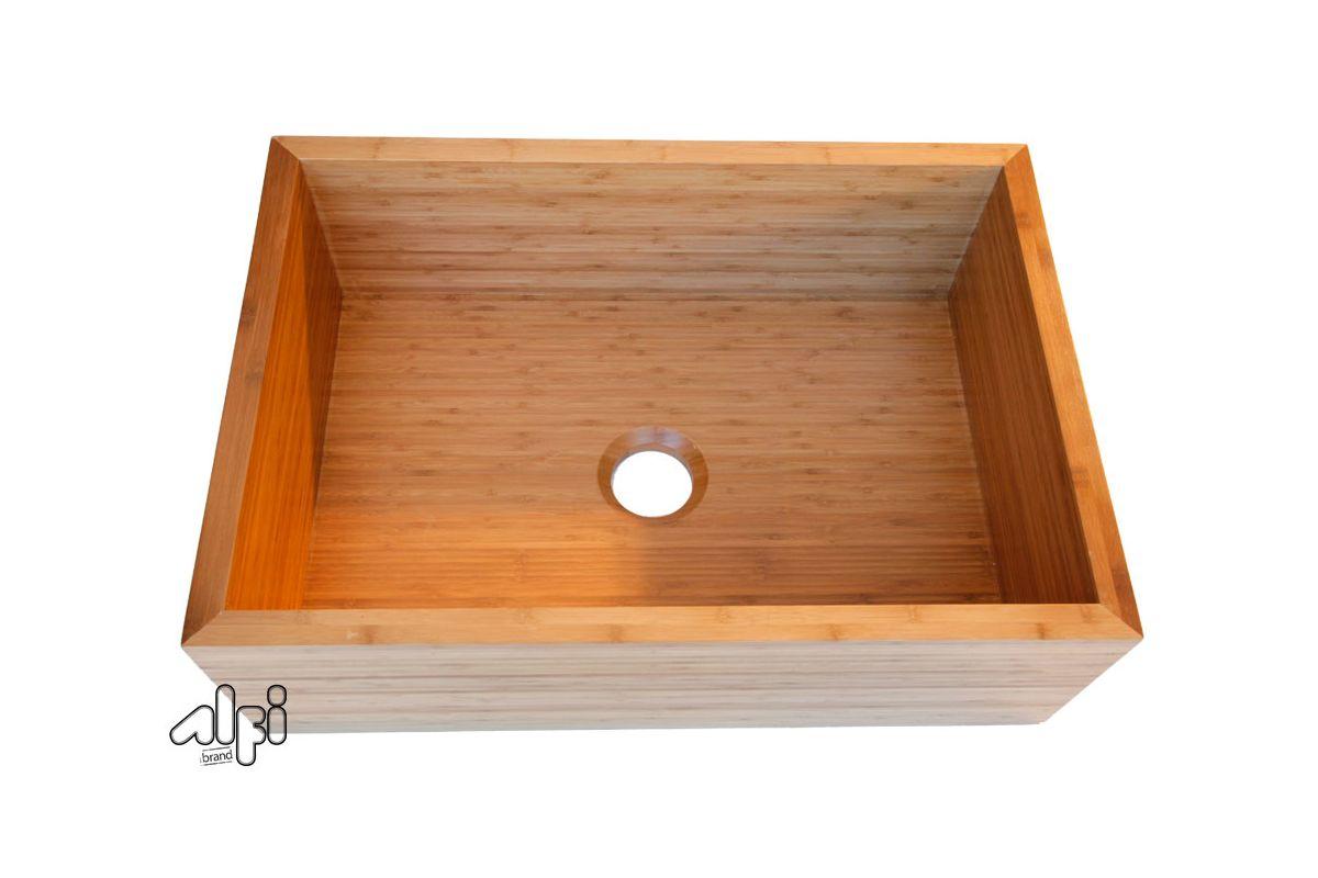 Farmhouse Sink Brands : ALFI Brand AB3021 Natural Wood 30