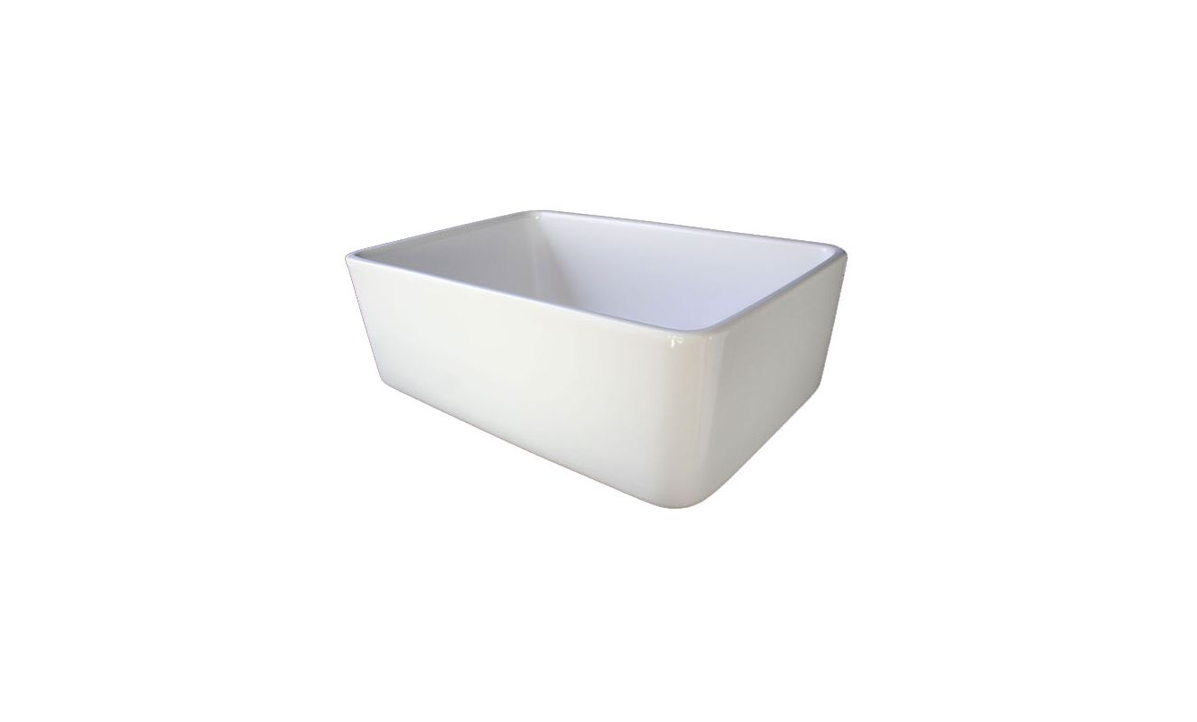 24 Inch Farmhouse Sink : ... 24 Inch Smooth Small Fireclay Farmhouse Kitchen Sink - FaucetDirect