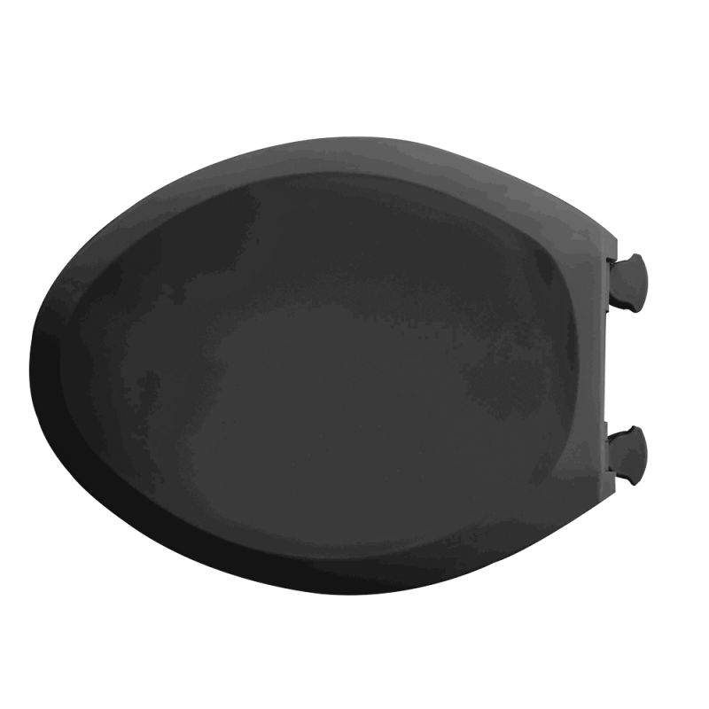 American Standard Black Plastic Elongated Toilet Seat And Lid