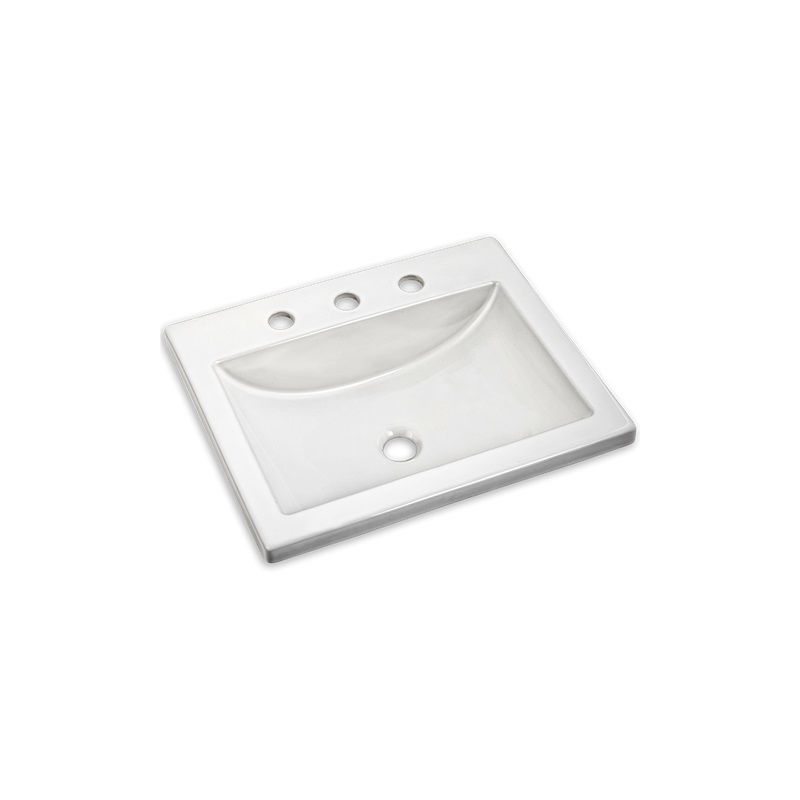 American Standard 0643 008 020 White 21 Quot Drop In Bathroom Sink With 3 Hole With