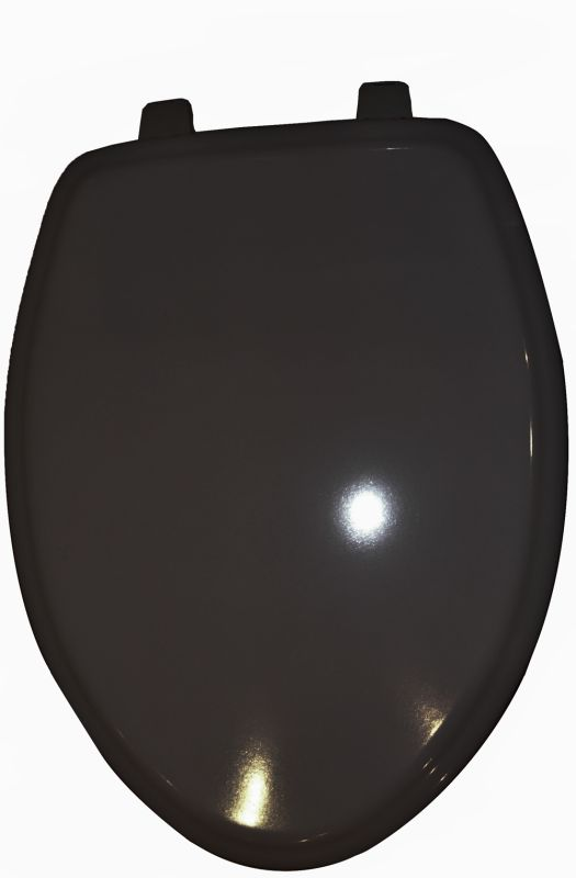 American Standard Black Elongated Molded Wooden Toilet Seat From