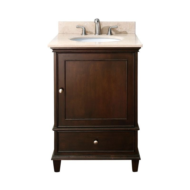 Avanity windsor v24 wa walnut 24 windsor vanity cabinet for Bathroom cabinet 800
