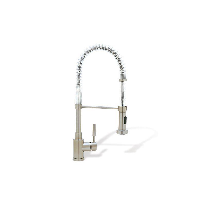blanco 440557 satin nickel meridian single handle pulldown