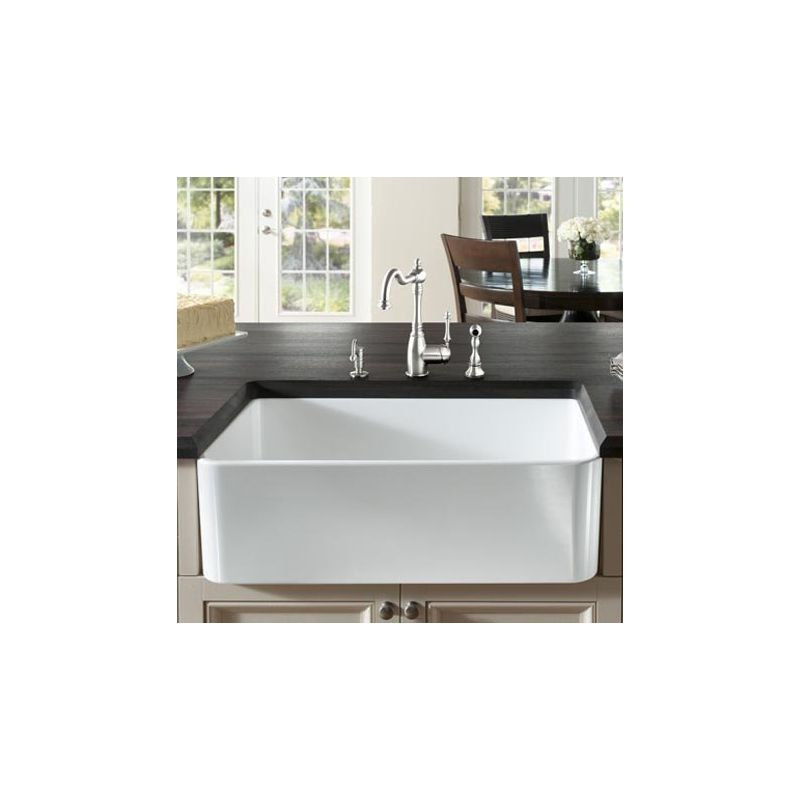 Blanco Farmhouse Sink : Blanco 518541 White Cerana 33