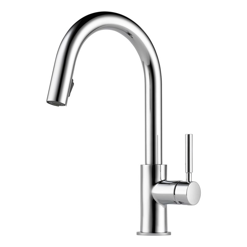 Brizo 63020LF-PC Chrome Pullout Spray High-Arc Kitchen Faucet with ...
