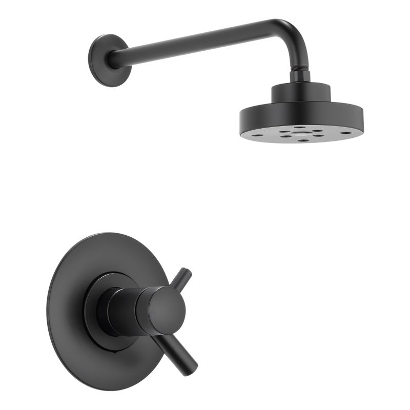 Brizo T60275bl Matte Black Shower Trim Package With Single