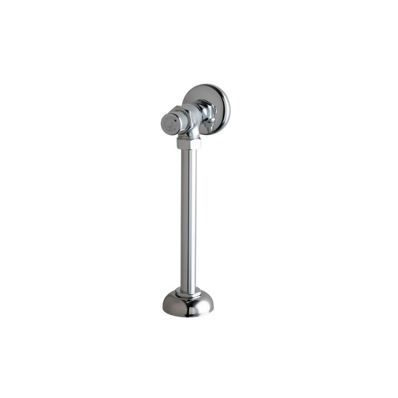 Chicago Faucets 732 Cp Chrome Angle Urinal Valve With Push
