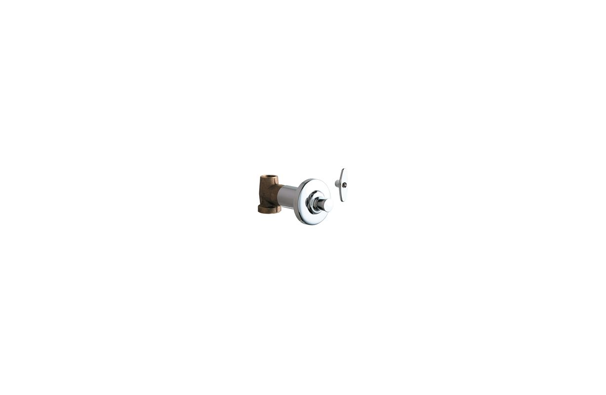 Chicago Faucets 1771 ABCP Chrome Concealed Straight Valve