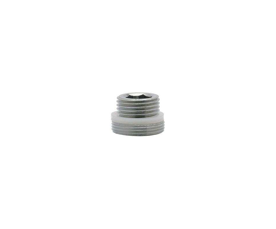 Chicago Faucets K2jkabrcf Rough Chrome 3 8 X 13 16 Ecast Spout Outlet Adapter