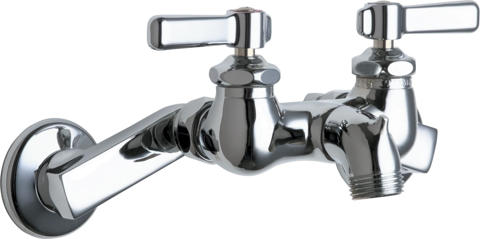 Mop Sink Faucet : Chicago Faucets 305 Wall Mounted Service Sink Faucet with Rigid Spout ...
