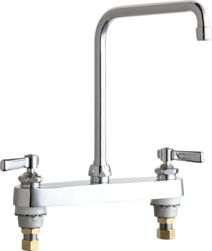Chicago Faucets 527 Ha8abcp Chrome Commercial Grade High Arch Kitchen Faucet With Lever Handles