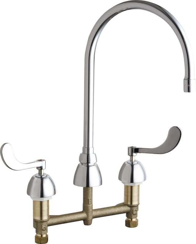 commercial grade kitchen faucets chicago faucets 786 gn8ae3abcp chrome grade 16777