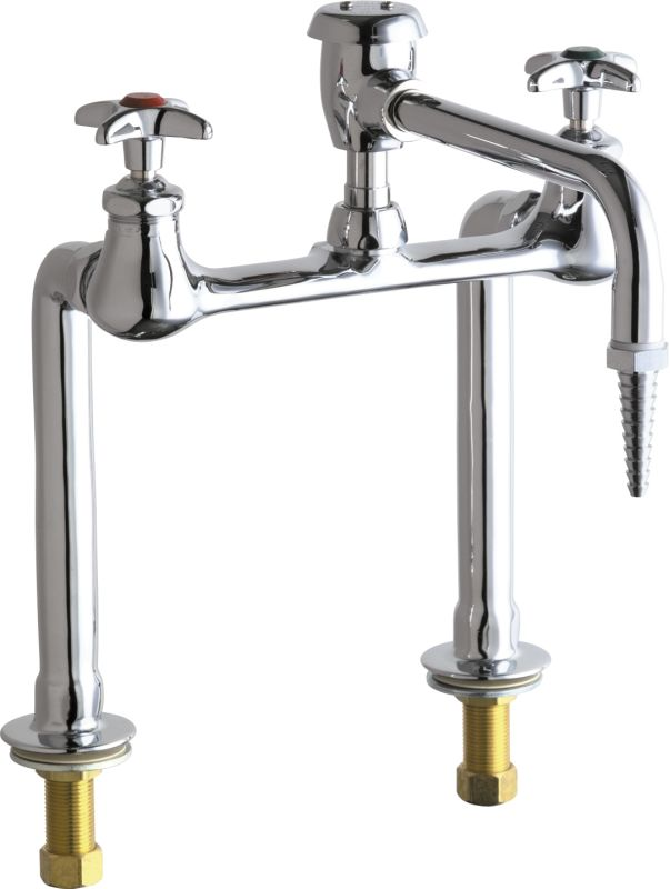 Chicago Faucets 941 Vbe7cp Chrome Bridge Style Lab Faucet