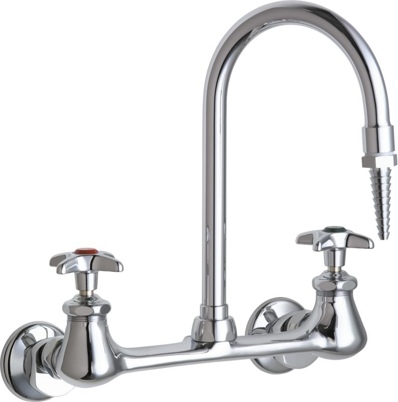 Chicago Faucets 942 Cp Chrome Wall Mounted Lab Faucet With