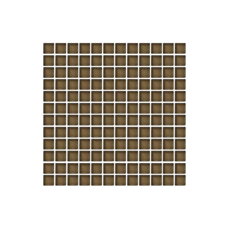 Daltile CW10-11MS1P Color Wave 1 x 1 Suede Shoes Glass Mesh Mounted Mosaic Wal Suede Shoes Tile