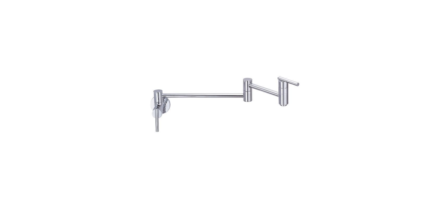 Danze D205058 Chrome Wall Mounted Pot Filler Faucet With 22 Quot Double Jointed Swinging Spout From