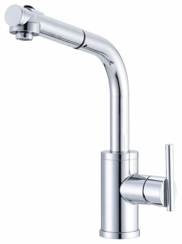 danze d404558 chrome pullout spray kitchen faucet from the parma collection. Black Bedroom Furniture Sets. Home Design Ideas