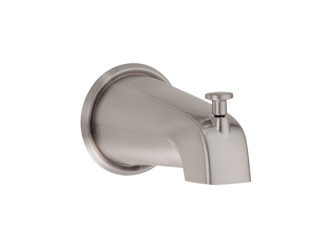 danze d606225bn brushed nickel tub spout with diverter. Black Bedroom Furniture Sets. Home Design Ideas