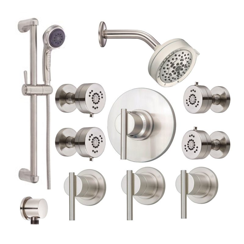 danze parma shower bundle 1 bn brushed nickel shower handshower and valve tr. Black Bedroom Furniture Sets. Home Design Ideas