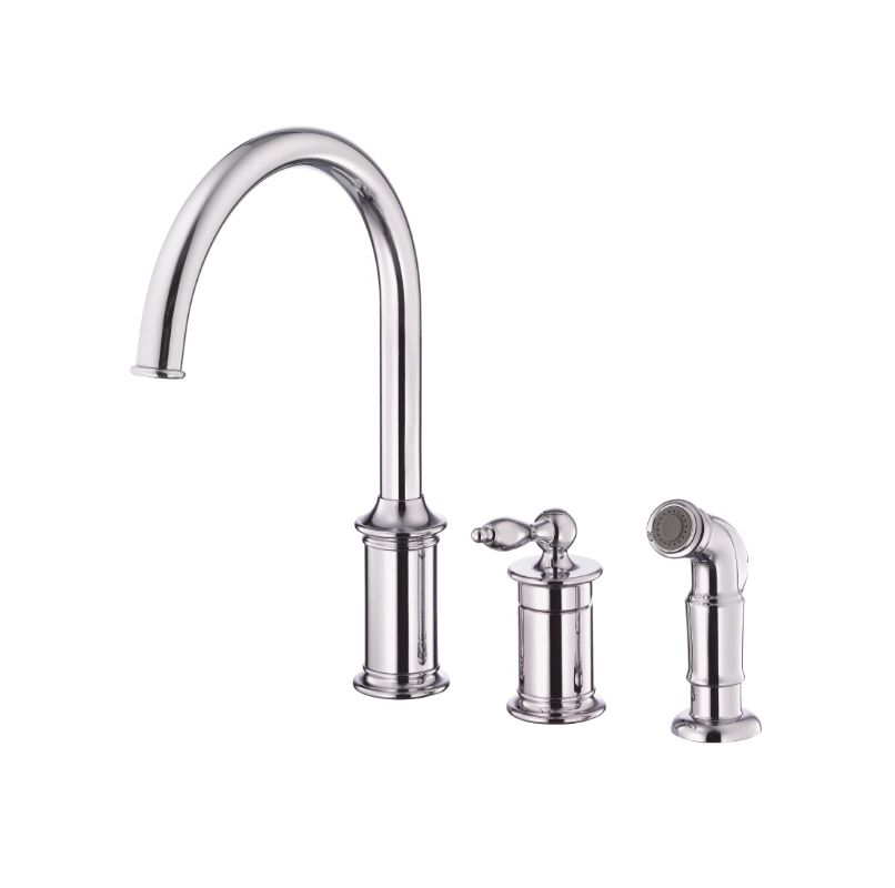 danze d409010 chrome kitchen faucet includes side spray from the prince col. Black Bedroom Furniture Sets. Home Design Ideas
