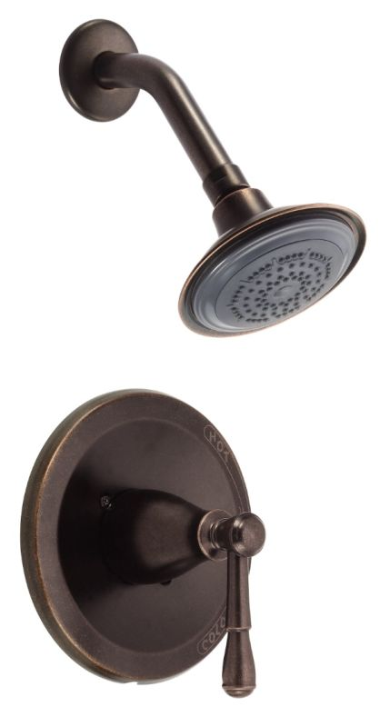 danze d510515brt tumbled bronze pressure balanced shower trim package with single function. Black Bedroom Furniture Sets. Home Design Ideas