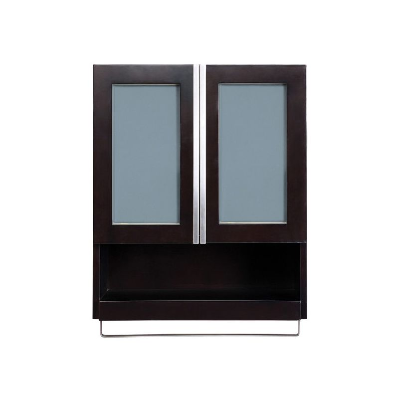 "DecoLav 5248 ESP Espresso Tyson 22"" Wood Wall Cabinet with"