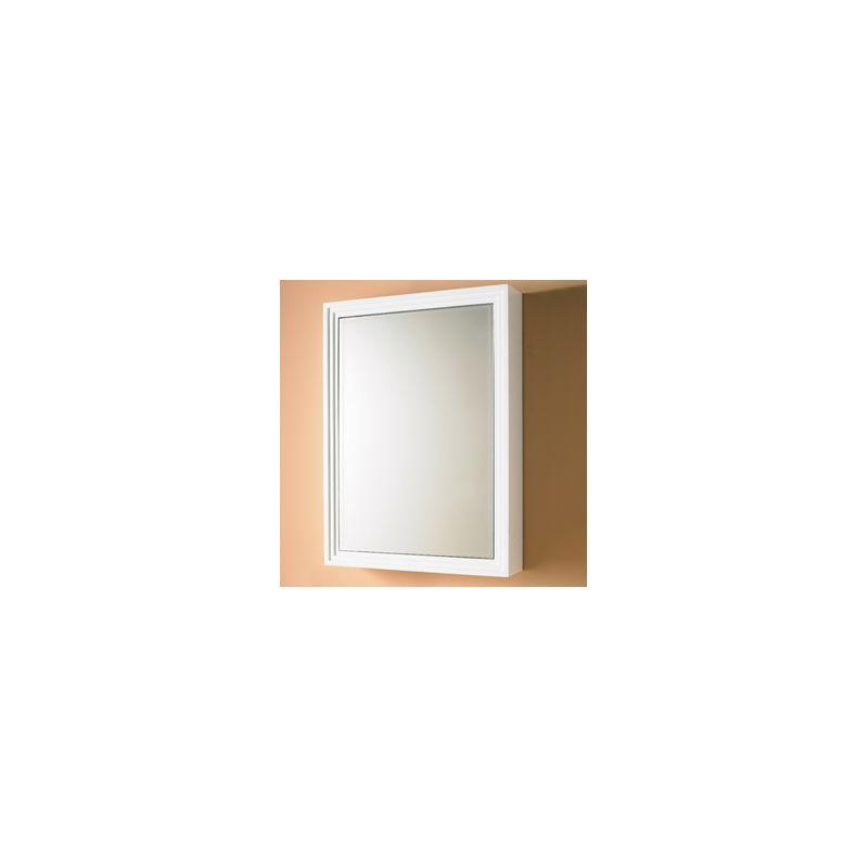Decolav 9730 wh white 22 solid wood frame medicine for Wood frame medicine cabinet