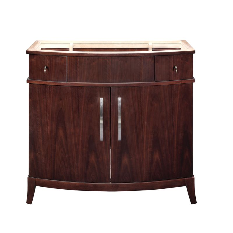 decolav 5257 dwn dark walnut alexandra 36 5 wood vanity cabinet only