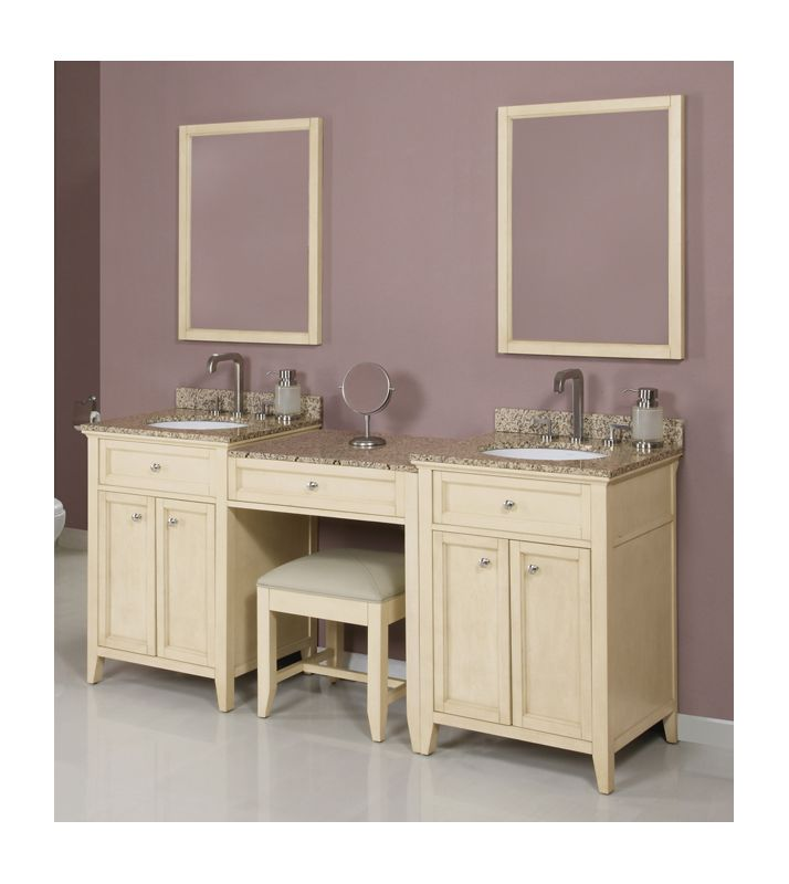 DecoLav Jordan 88 AWH Antique White 88quot Double Vanity with  : decolavjordan881 from faucetdirect.com size 714 x 800 jpeg 42kB