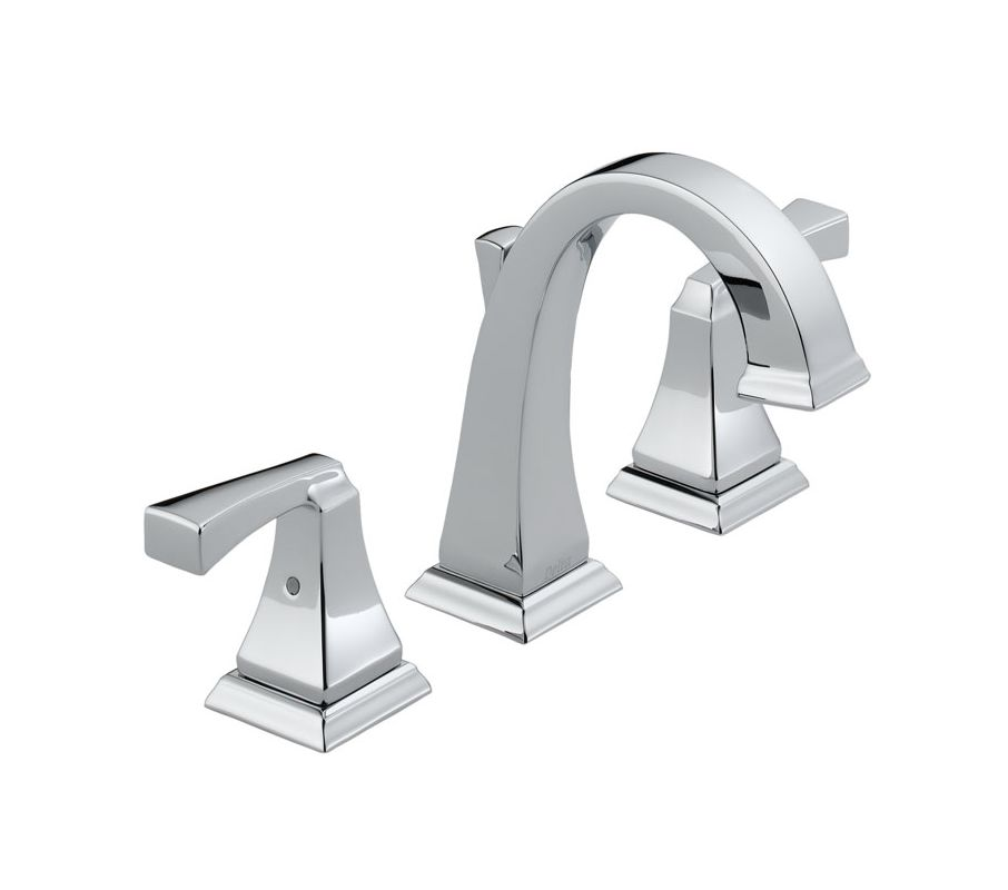 Delta 3551lf Chrome Dryden Widespread Bathroom Faucet