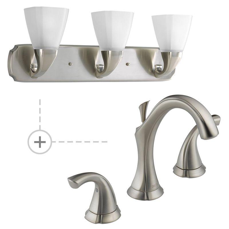 ... Matching Progress Lighting P2848 Three-Light Bathroom Fixture